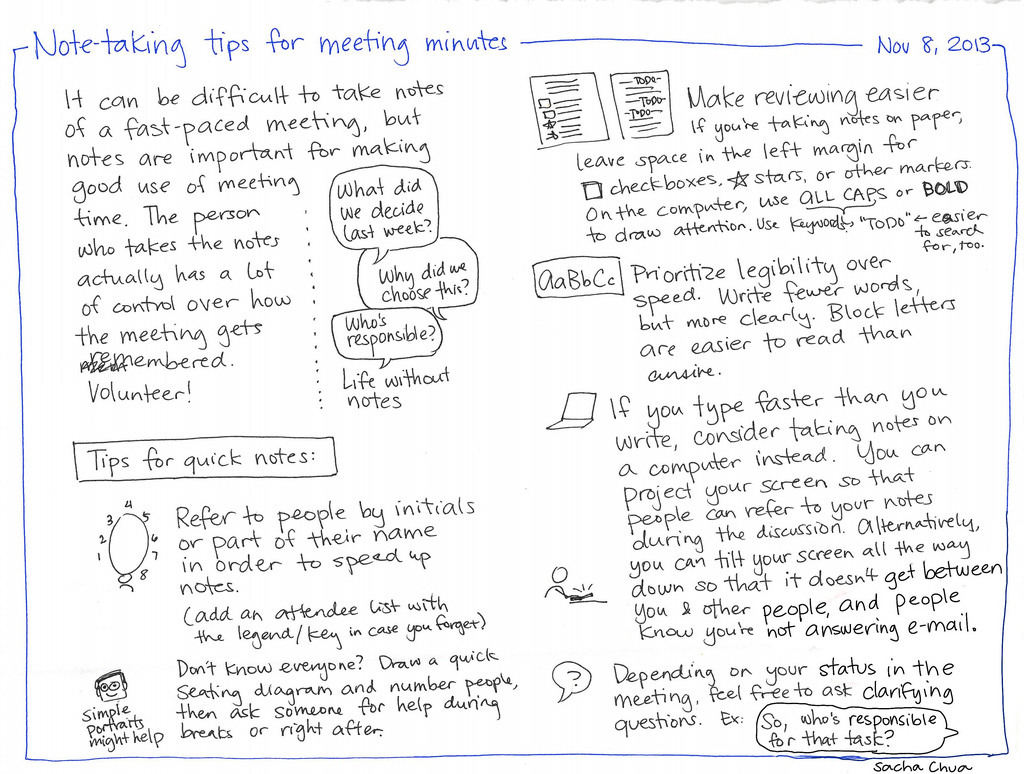 meeting notes are good for the team and your career