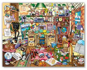 A flea market with lots of  memorabilia and personal stuff.